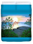 Sunset In Jamaica Duvet Cover