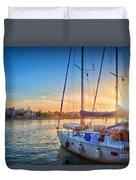 Sunset In Kos Duvet Cover
