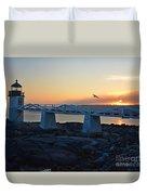 Sunset In Maine Duvet Cover