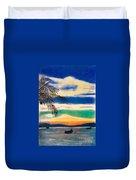 Sunset In Manuel Antonio  Duvet Cover