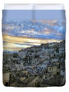 Sunset In Matera.italy Duvet Cover