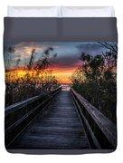 Sunset In Meaher Park #102 Duvet Cover