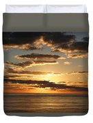Sunset In Mexico Duvet Cover