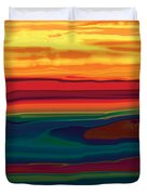 Sunset In Ottawa Valley Duvet Cover