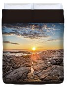 Sunset In Prospect, Nova Scotia Duvet Cover