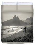 Sunset In Rio De Janeiro Duvet Cover