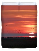 Sunset In Sabine Pass Texas Duvet Cover