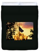 Sunset In San Diego Duvet Cover