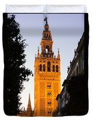 Sunset In Seville - A View Of The Giralda Duvet Cover