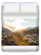 Sunset In Sion Duvet Cover