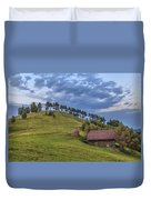 Sunset In The Carpathians Duvet Cover