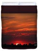 Sunset In The City Duvet Cover