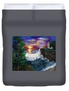 Sunset In The Cove Duvet Cover