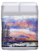 Sunset In The Rockies Duvet Cover