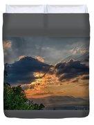 Sunset In The Shenandoah Valley Duvet Cover