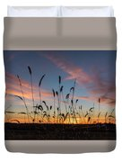 Sunset In The Weeds Duvet Cover