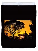 Sunset In Tujunga Duvet Cover