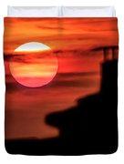 Sunset In Udine Duvet Cover
