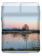 Sunset In Union Bay Duvet Cover
