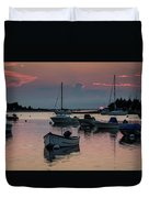 Sunset In West Falmouth Duvet Cover