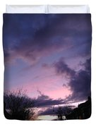 Sunset In Winter Skies  Duvet Cover