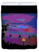 Sunset In Your Colorful Moon Duvet Cover
