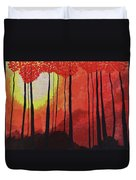 Sunset Into The Forest Duvet Cover