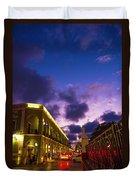 Sunset It Campeche City Downtown Duvet Cover