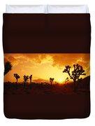 Sunset, Joshua Tree Park, California Duvet Cover