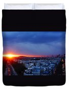 Sunset La Defense Paris France Duvet Cover