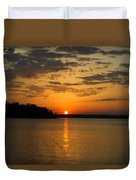 Sunset Lake Pat Mayse From Sanders Cove Duvet Cover