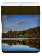 Sunset Lake View Duvet Cover