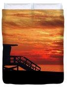 Sunset Lifeguard Station Series Duvet Cover