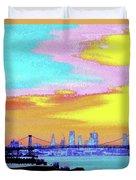 Sunset Lower Manhattan 2c5 Duvet Cover
