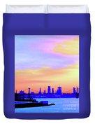 Sunset Lower Manhattan 2c2 Duvet Cover