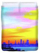 Sunset Lower Manhattan 2c3 Duvet Cover