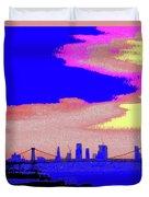 Sunset Lower Manhattan 2c7 Duvet Cover