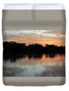 Sunset, Luangwa River, Zambia Duvet Cover