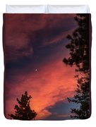 Sunset - Moonrise Duvet Cover