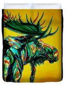 Sunset Moose Duvet Cover