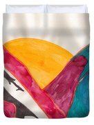 Sunset Mountains Duvet Cover