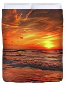 Sunset Ocean Dance Duvet Cover by Harry Warrick