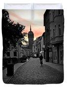 Sunset Of Castle Church Duvet Cover