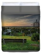 Sunset On A Beautiful Place Duvet Cover