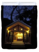 Sunset On A Cabin At El Capitan Canyon Duvet Cover