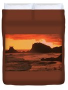 Sunset On A Rocky Coast Duvet Cover