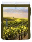 Sunset On A Vineyard Duvet Cover
