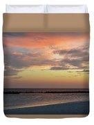 Sunset On An Idyllic Island In Maldives Duvet Cover