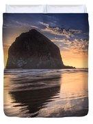 Sunset On Cannon Beach Duvet Cover