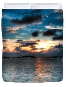 Sunset On Cedar Key Duvet Cover